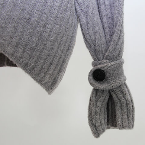 rib button knit