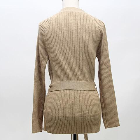 knit belt cardigan